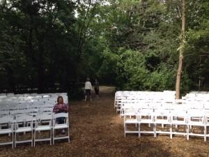 Oshkosh WI Wedding Set Up  Hickory Oaks Campground 02